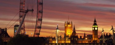 London Eye evening sunset