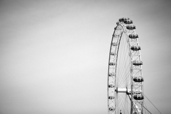 Black And White London Eye
