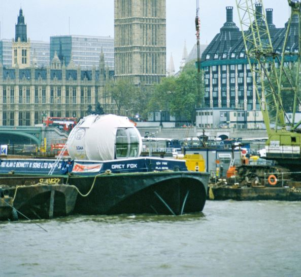 Pod on London River Thames