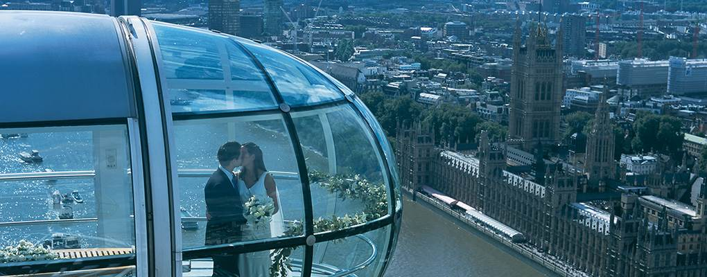 London Eye wedding on pod