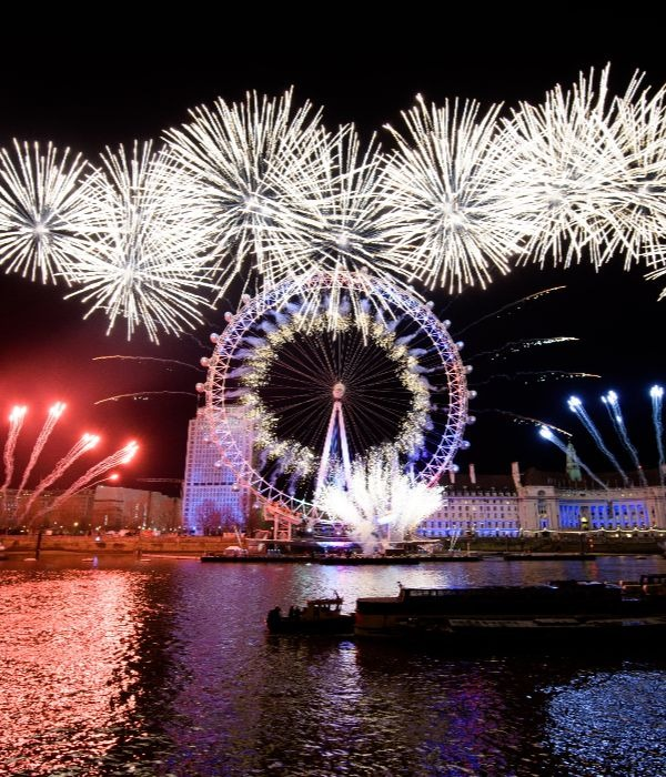 London Eye NYE With Fireworks