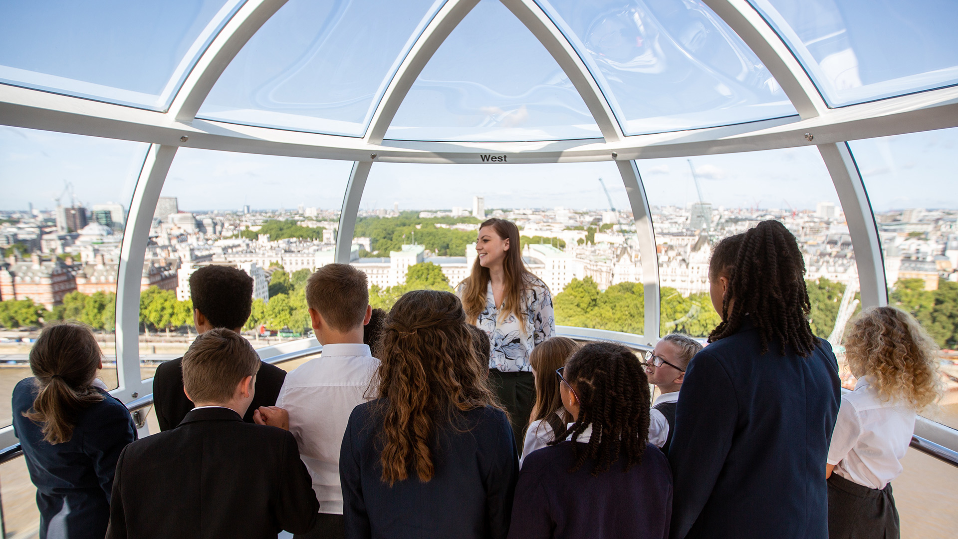 London Eye School Children On Pod