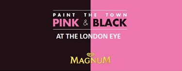 London Eye and Magnum black and pink partnership