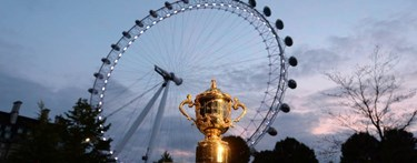 Rugby world cup in front of London Eye