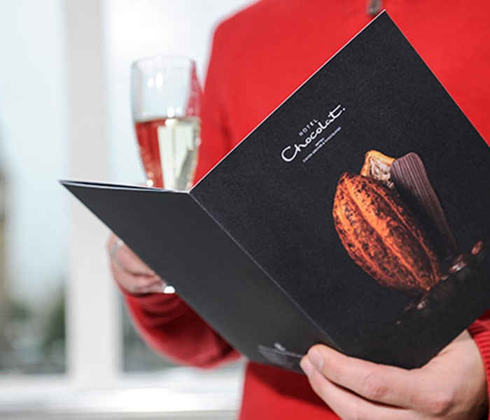 London Eye Hotel Chocolat Menu