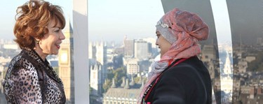 Two women on London Eye celebrating International Day Of the Girl
